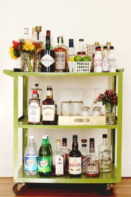 Elsie's Bar Cart (via A Beautiful Mess)